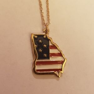 State of Georgia flag necklace